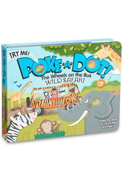 Poke-A-Dot The Wheels Wild Safari Board Book