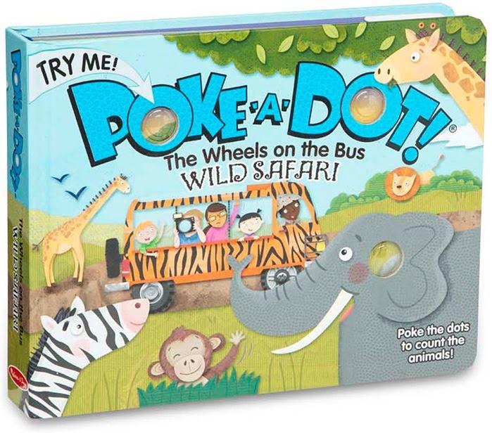 Poke-A-Dot The Wheels Wild Safari Board Book-1