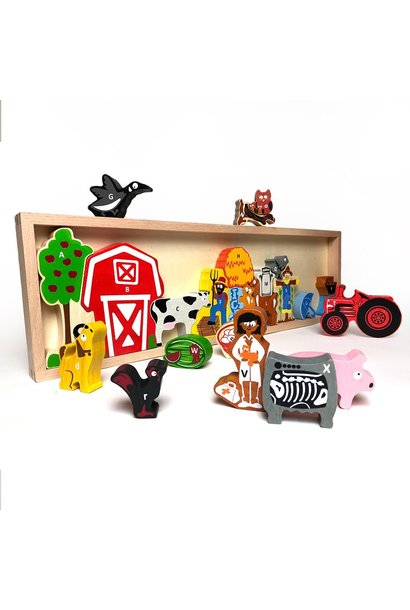 The Farm A to Z Wooden Puzzle