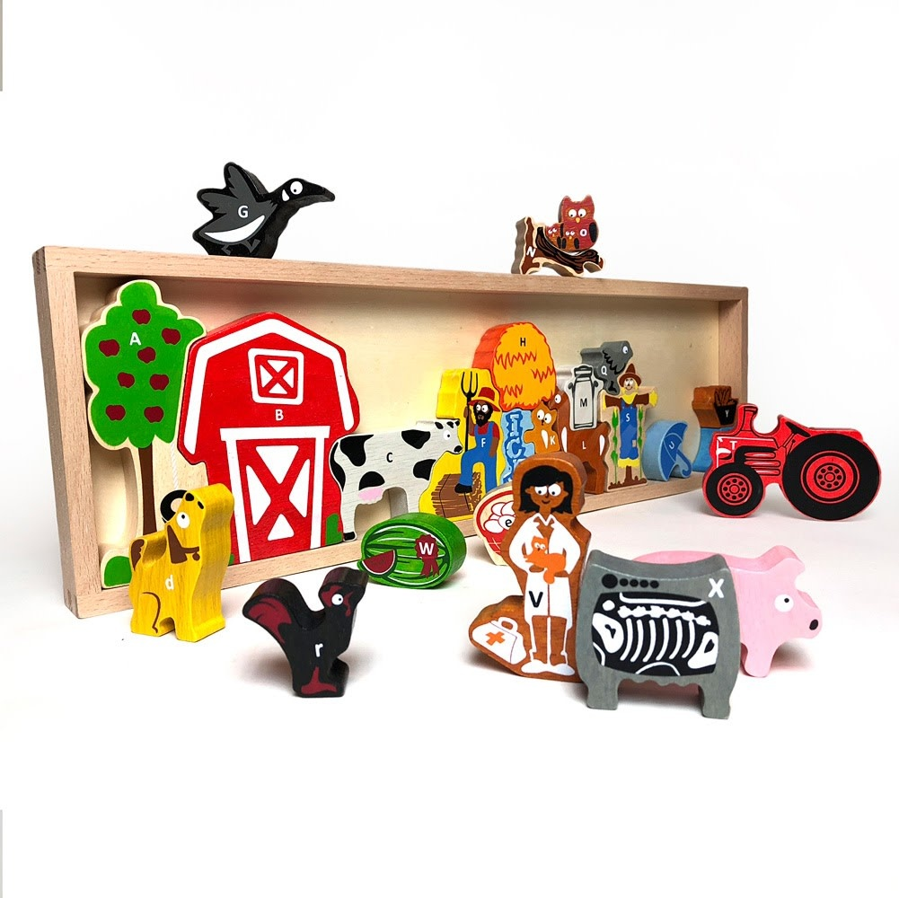 The Farm A to Z Wooden Puzzle-1