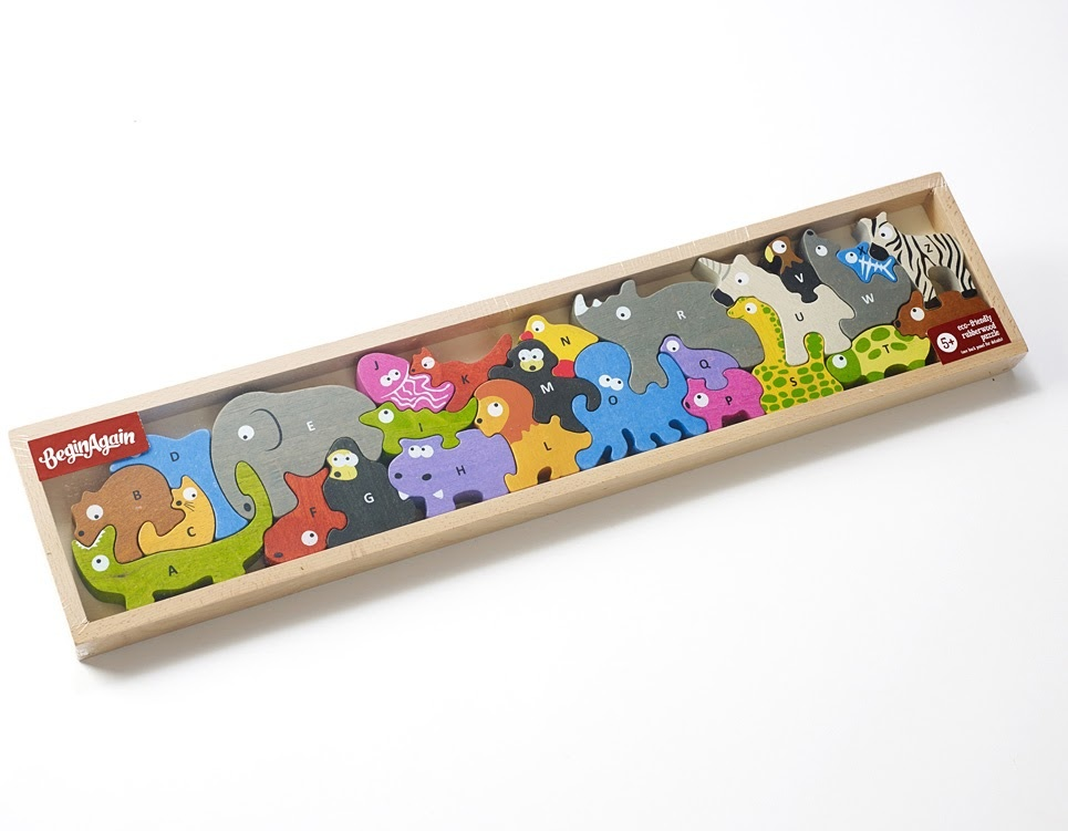 Animal Parade A to Z Wooden Puzzle-5
