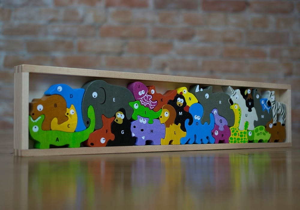 Animal Parade A to Z Wooden Puzzle-6