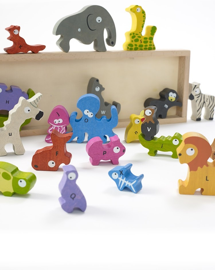 Animal Parade A to Z Wooden Puzzle-2