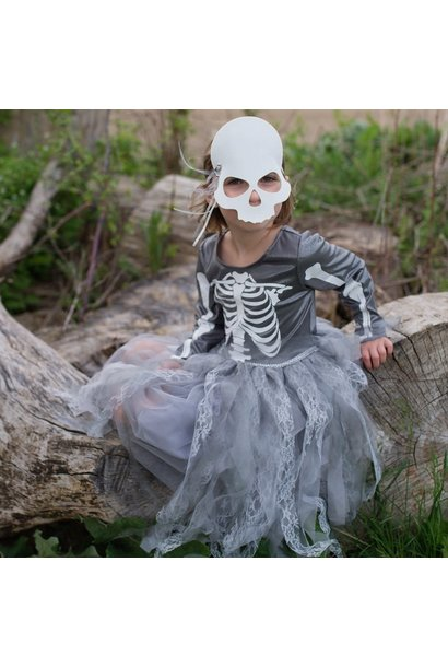 Skeleton Witch Dress & Mask  Size 5-6