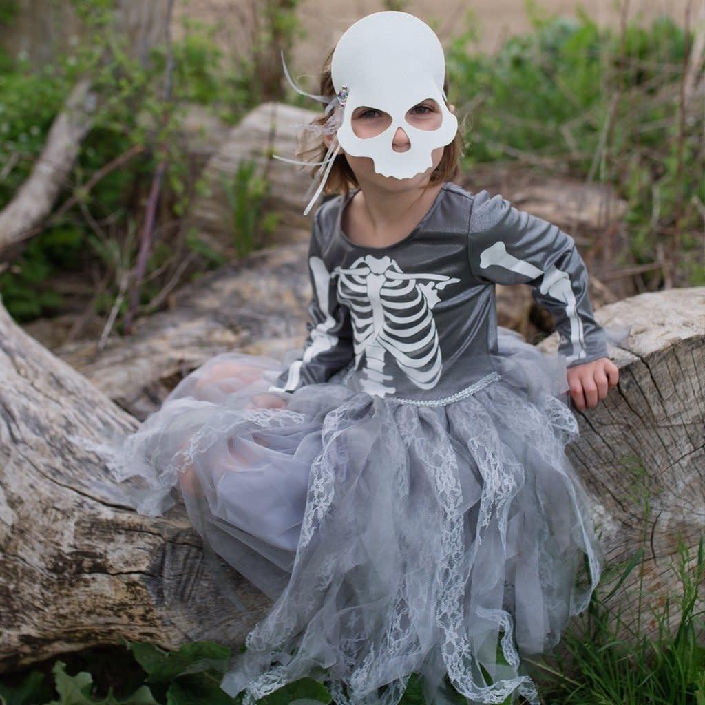 Skeleton Witch Dress & Mask  Size 5-6-1