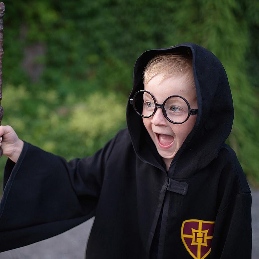 Wizard Cloak & Glasses  Size 7-8-4