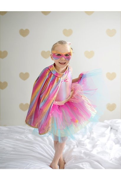 Super Duper Tutu with Cape/Mask Rainbow