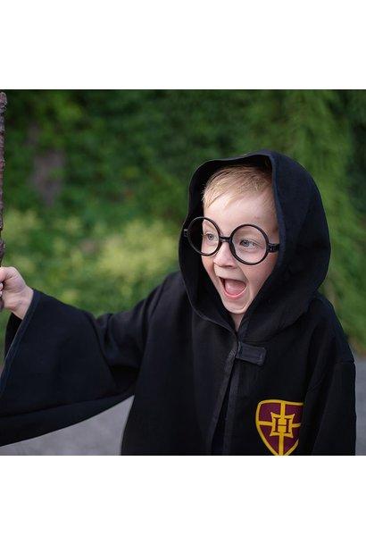 Wizard Cloak & Glasses  Size 5-6