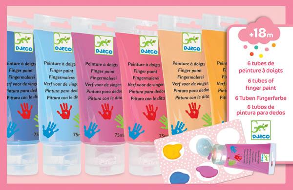 6 Tubes Finger Paint - Sweet-2