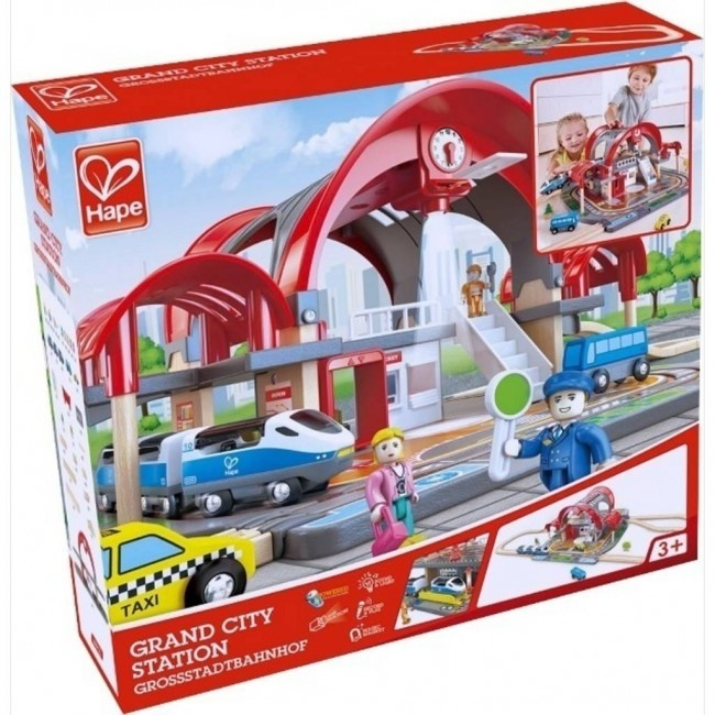 Hape Train Grand City Station-4
