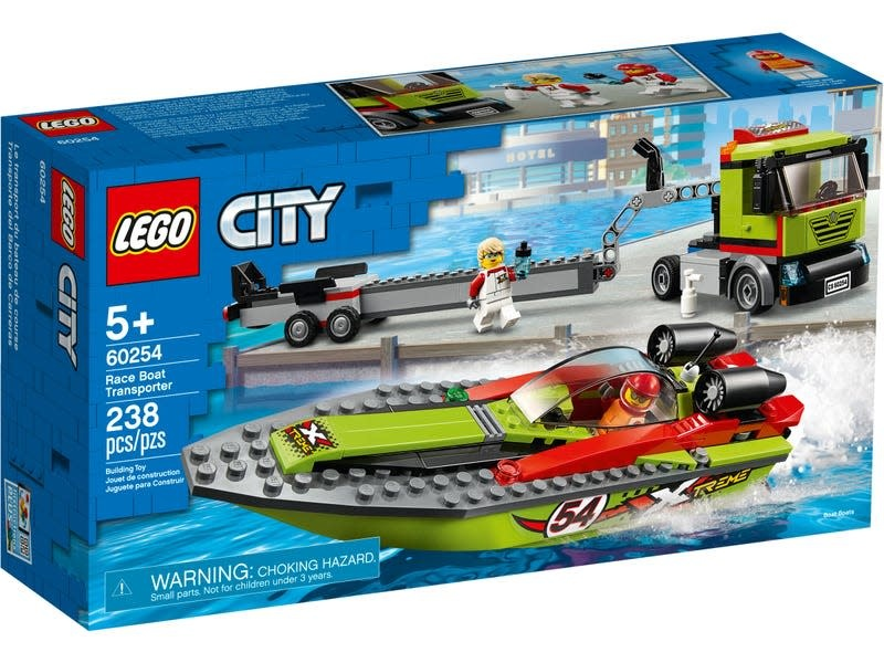LEGO City Race Boat Transporter-1