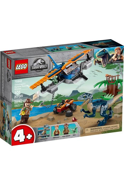 Lego Jurassic World Velociraptor Biplane Rescue Mission