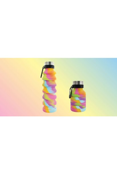 Collapsible Water Bottle Tie Dye