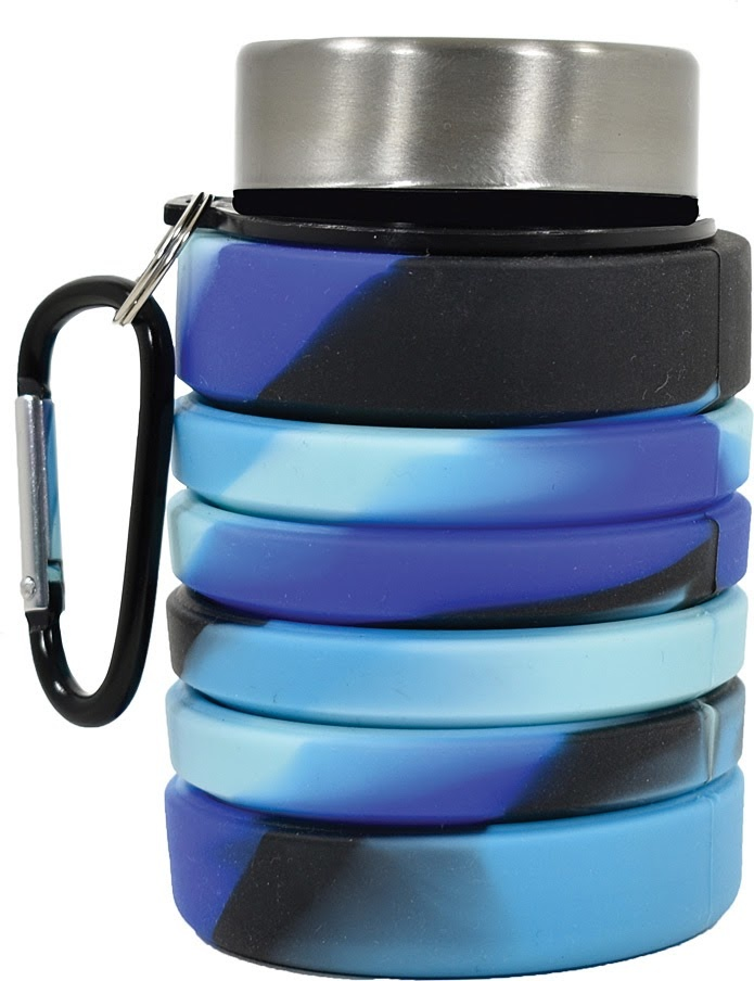 Collapsible Water Bottle Bl/Blk-3