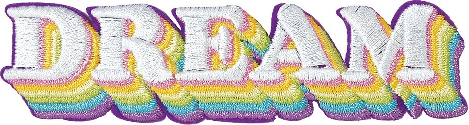 Embroidered Sticker DREAM-3