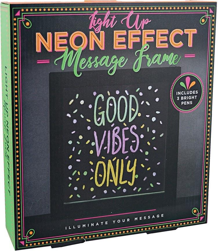 Light Up Neon Effect Message Frame-1