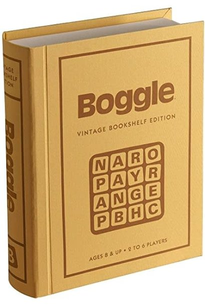 Boggle Game Vintage Bookshelf Edition