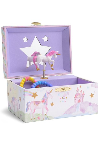 Musical Jewelry Box Rainbow Unicorn