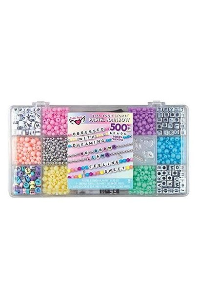 TYS Alphabet Bead Case Pastel Rainbow