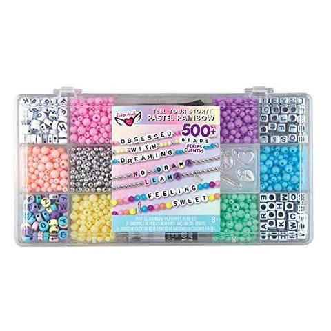TYS Alphabet Bead Case Pastel Rainbow-1