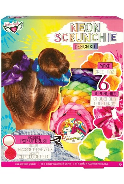 Neon Tie Dye Scrunchie Design