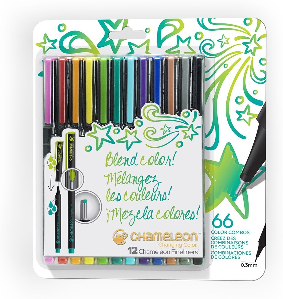 Chameleon Fineliners Bright Color Combos 12 pk-1