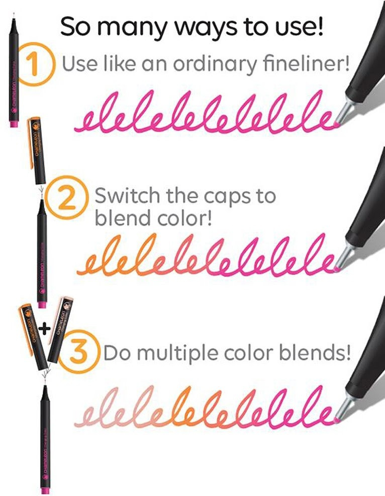 Chameleon Fineliners Bright Color Combos 12 pk-5
