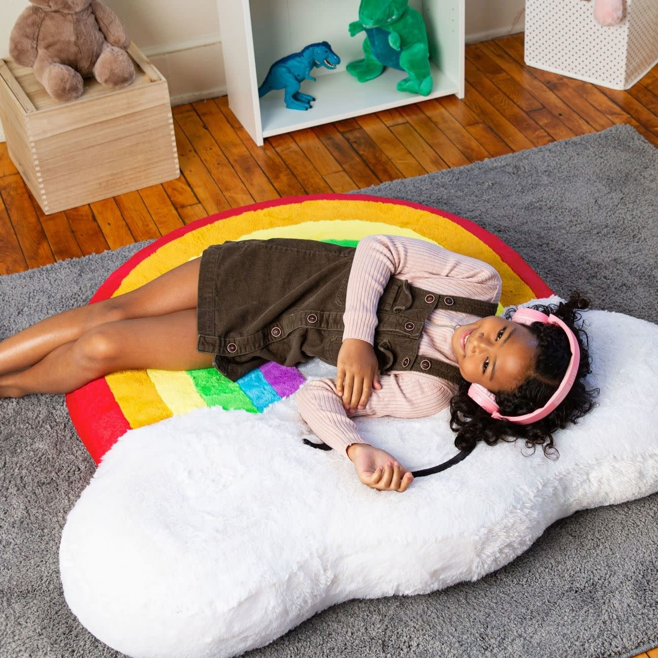 Rainbow Inflatable Floor Floatie-2