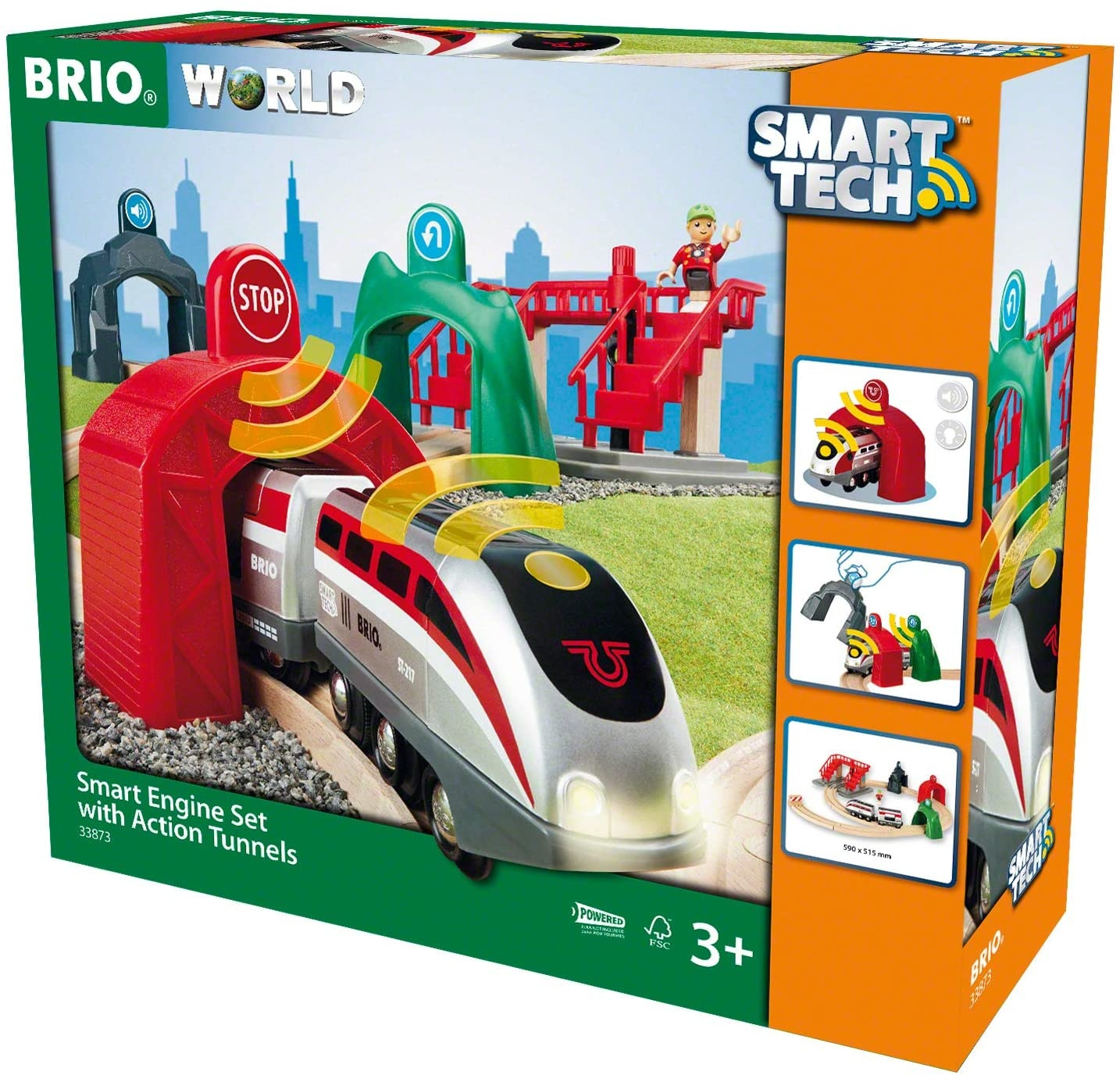 Brio Smart Engine Set w/Action Tunnels-1