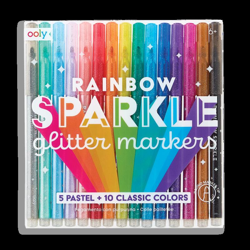 Rainbow Sparkle Glitter Markers-1