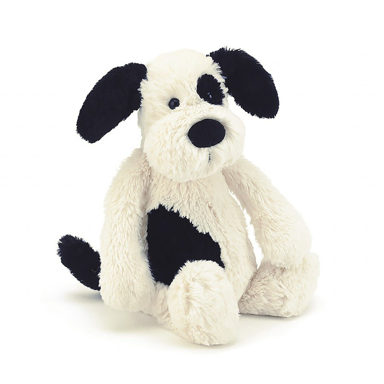 Bashful Puppy Black/Cream Med JellyCat-1