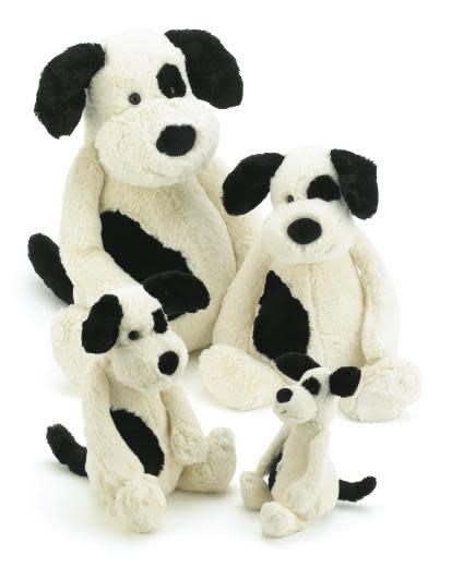 Bashful Puppy Black/Cream Med JellyCat-5