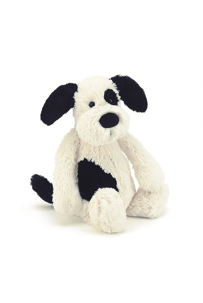 Bashful Puppy Black/Cream Small
