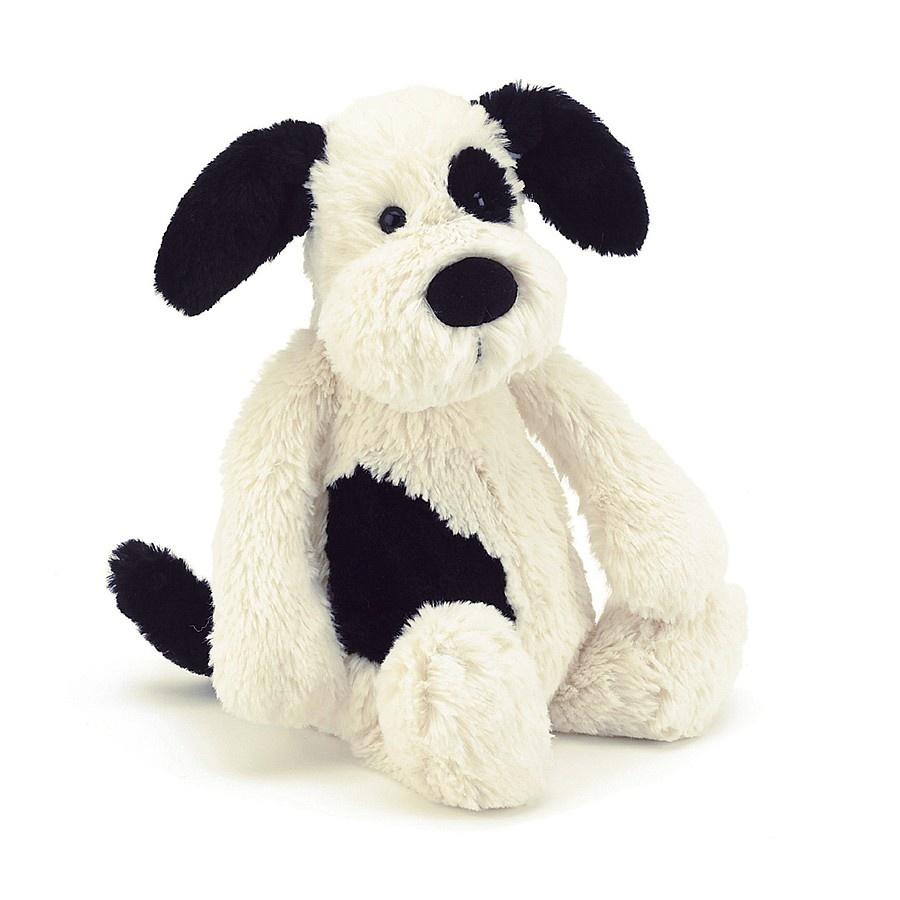 Bashful Puppy Black/Cream Huge-1