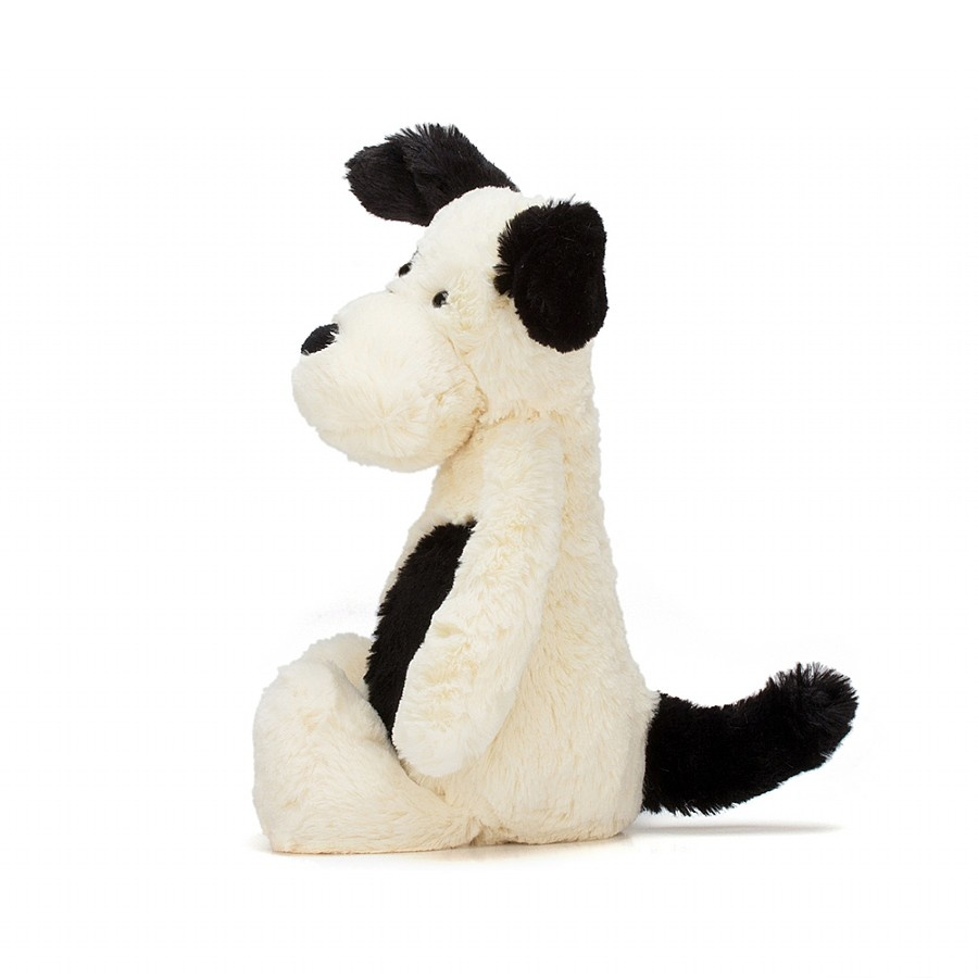 Bashful Puppy Black/Cream Med JellyCat-2