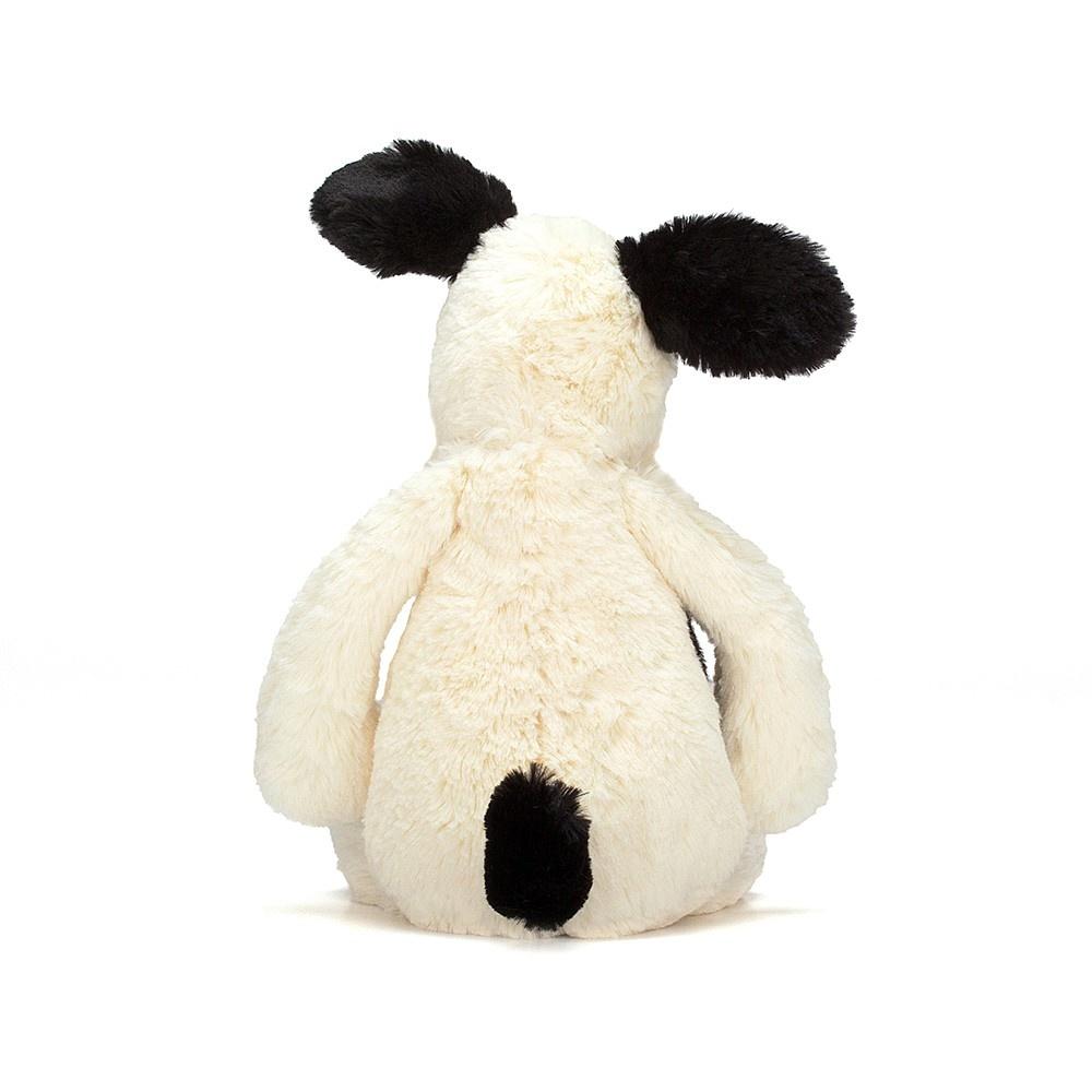 Bashful Puppy Black/Cream Med JellyCat-3