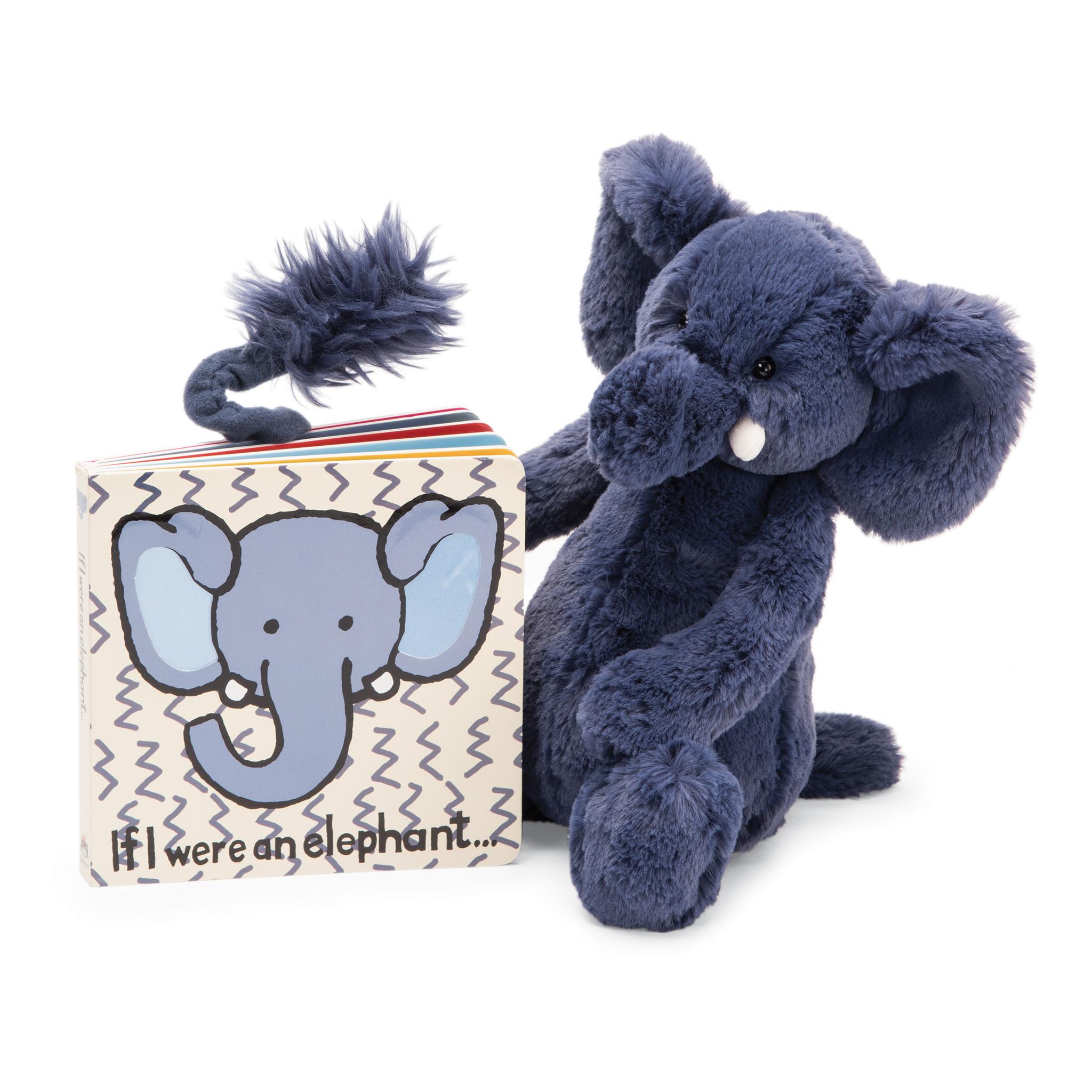 Bashful Blue Elephant Med-3