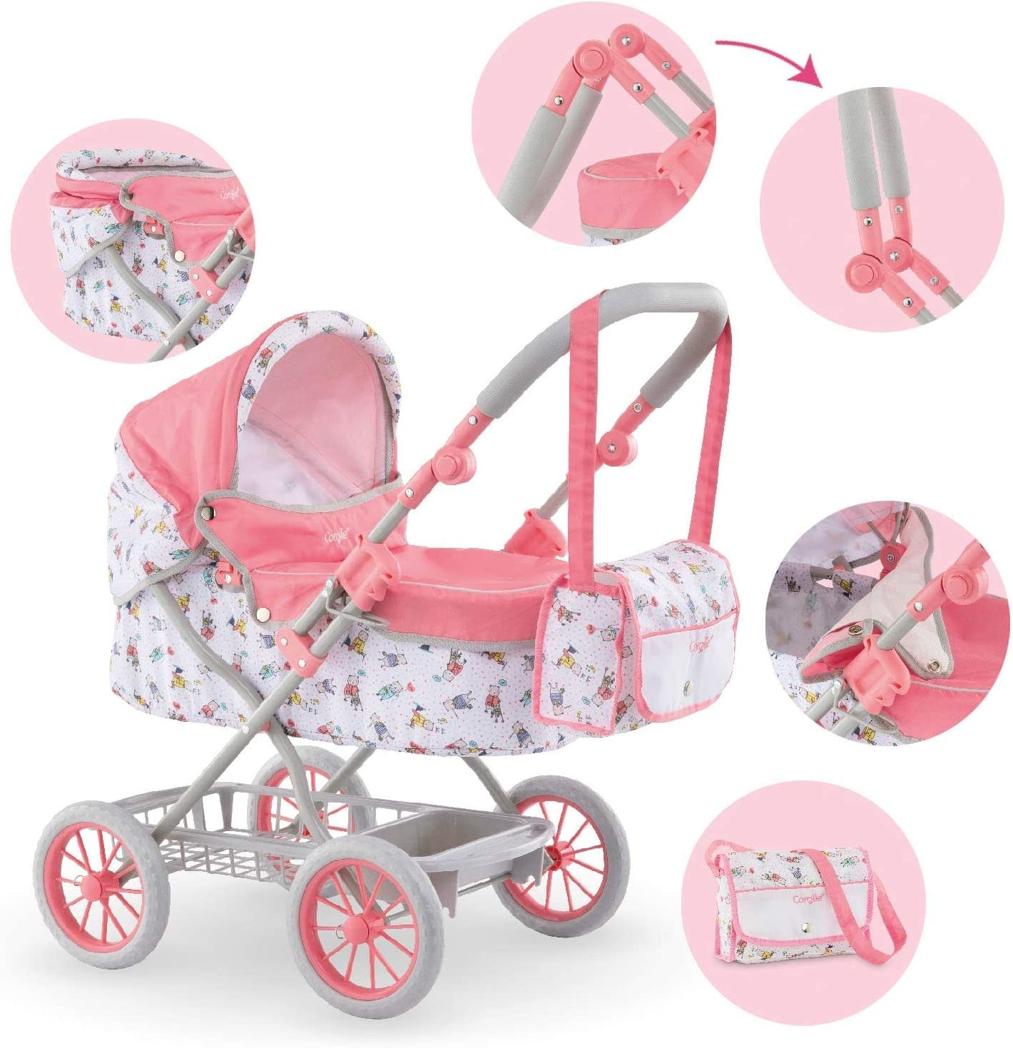 Doll Carriage & NurseryBag/Corolle-4