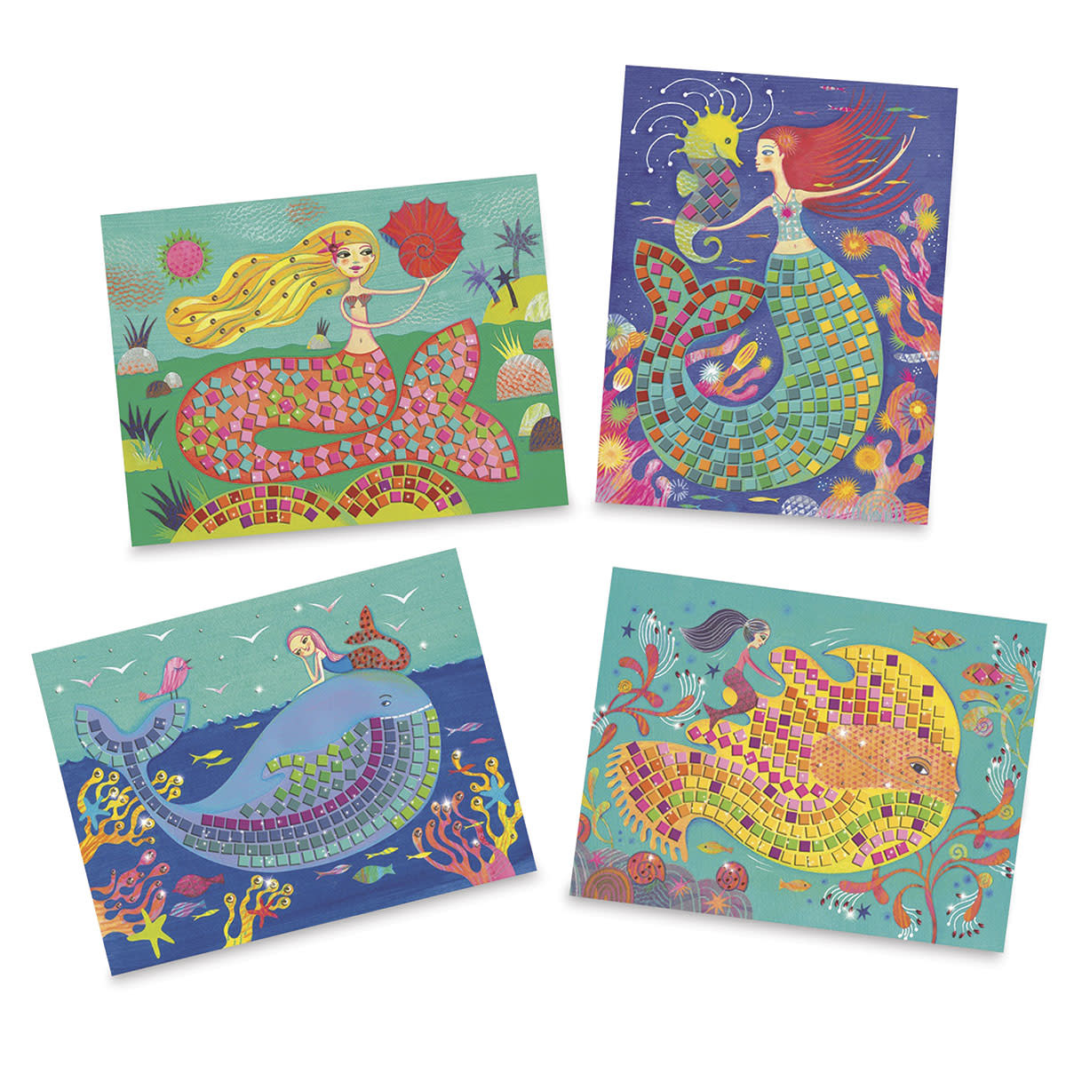 Sticker Mosaic Mermaids Song-3