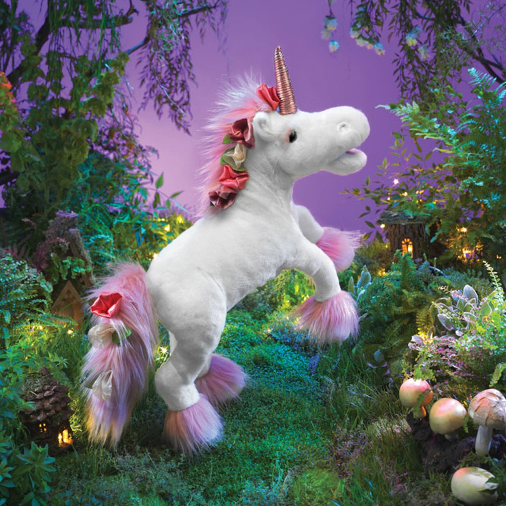 Unicorn Puppet with Music Box-2