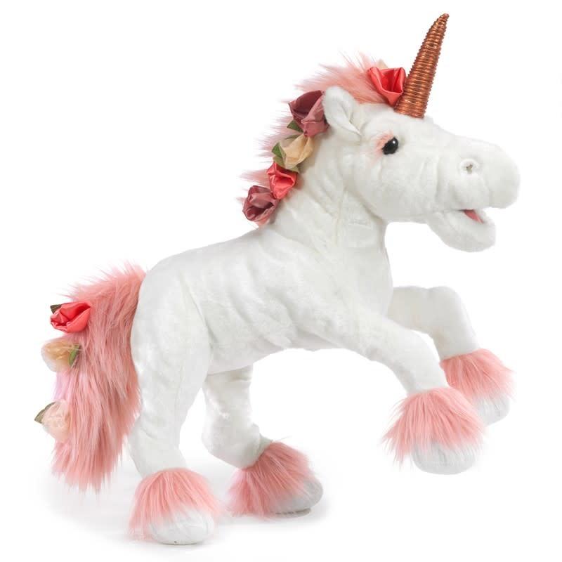 Unicorn Puppet with Music Box-3