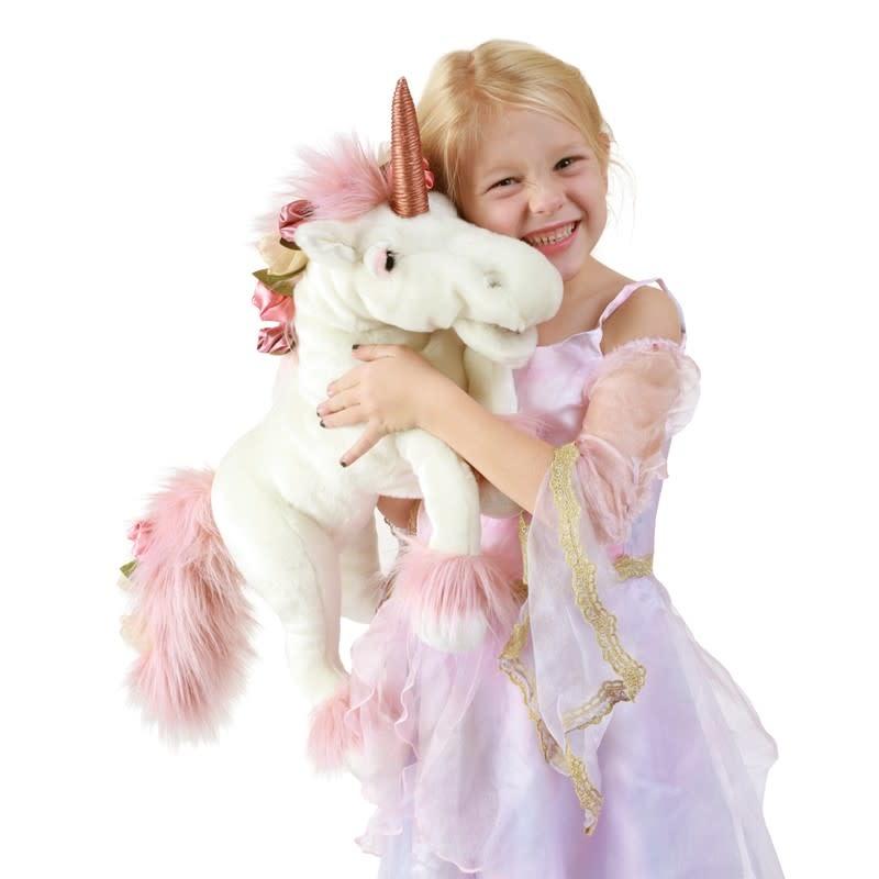 Unicorn Puppet with Music Box-1