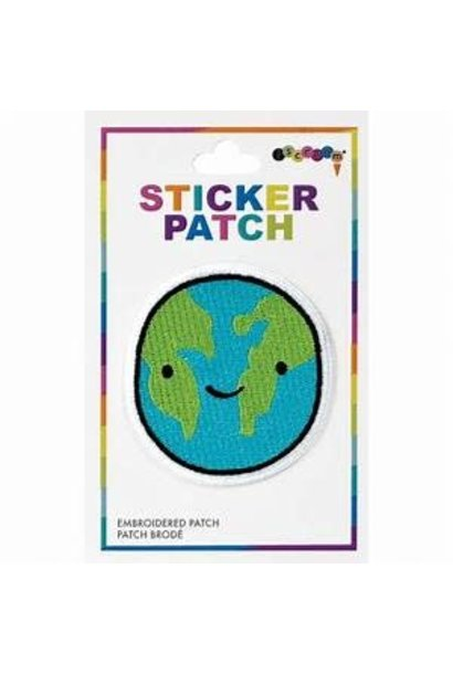 Embroidered Sticker HAPPY PLANET
