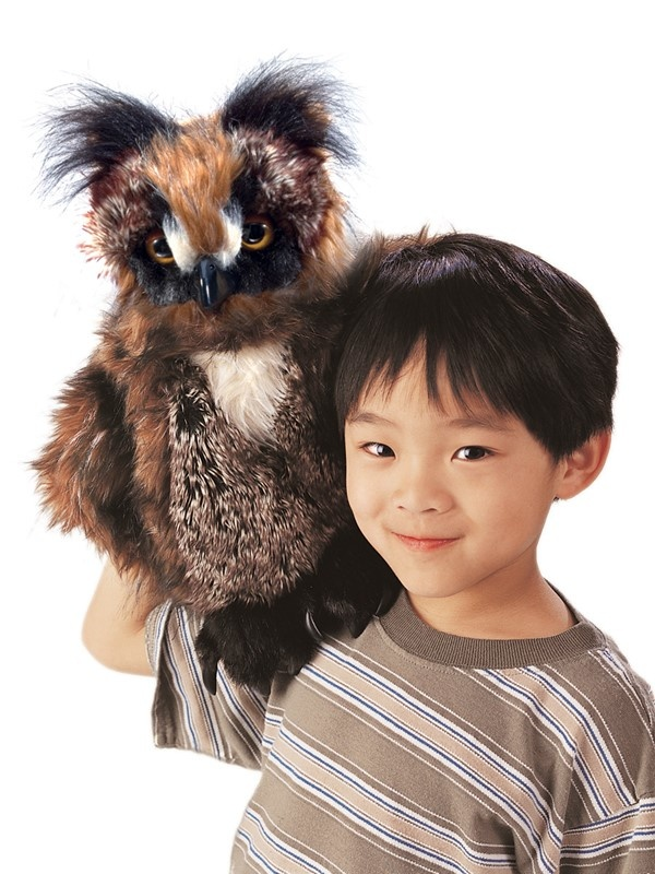 Great Horned Owl Puppet-1
