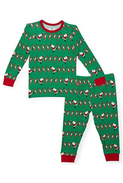 Holly Folly Jolly Modal Magnetic 2pc Pajama Set 2T