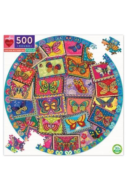 Vintage Butterflies Puzzle Pattern 500 pc