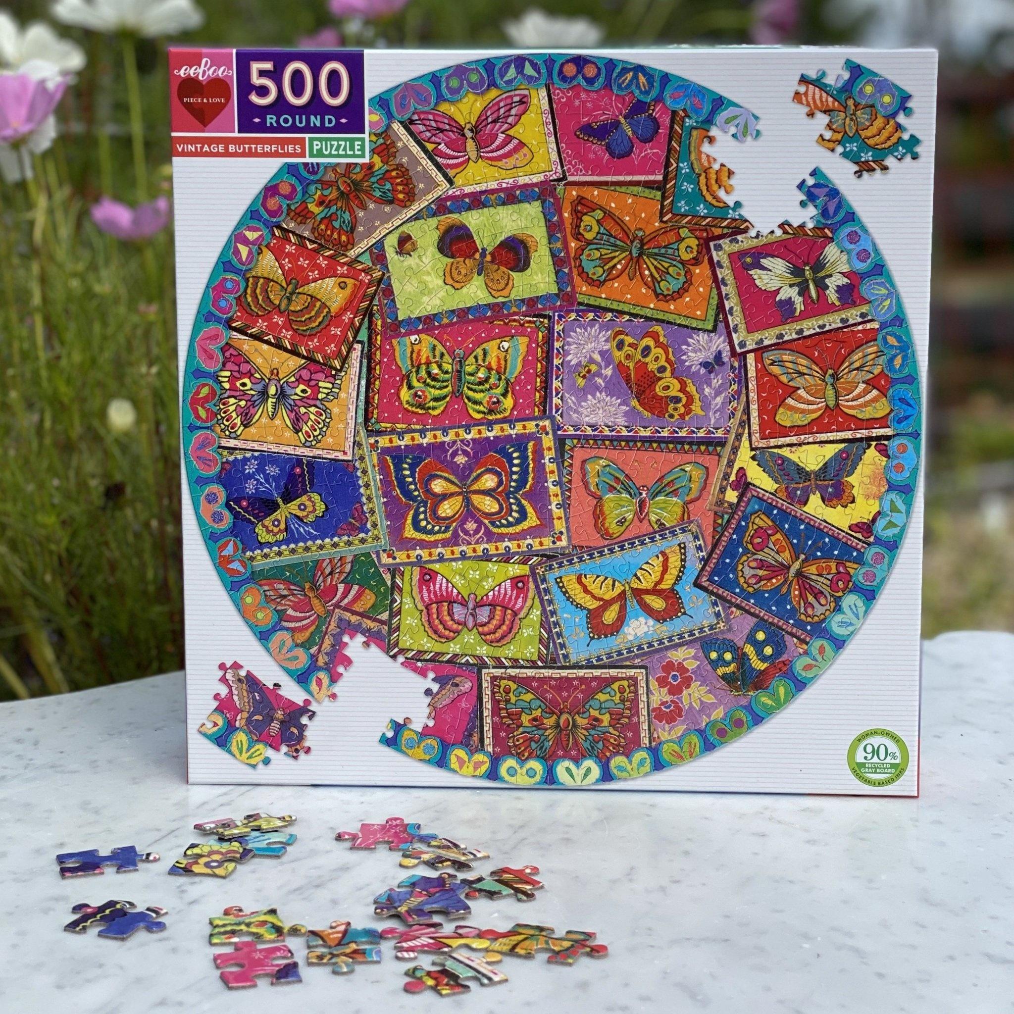 Vintage Butterflies Puzzle Pattern 500 pc-2