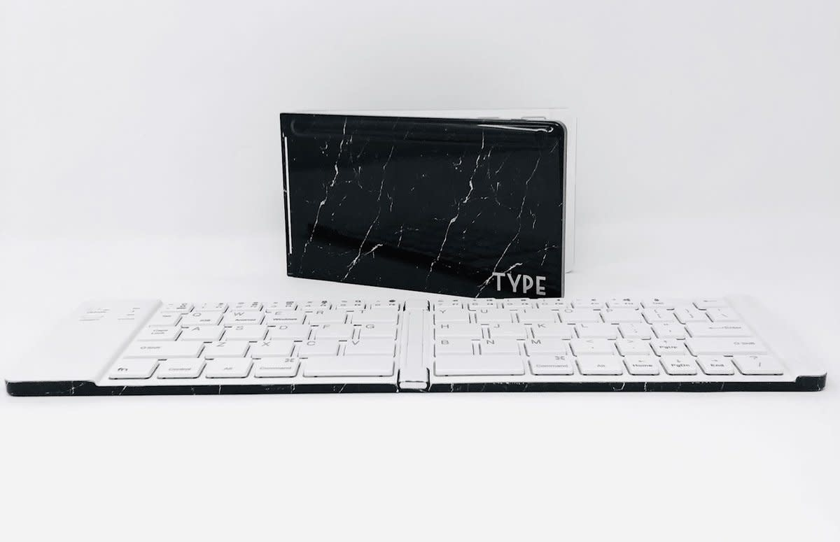 Keyboard Type Wireless Marble Black-2