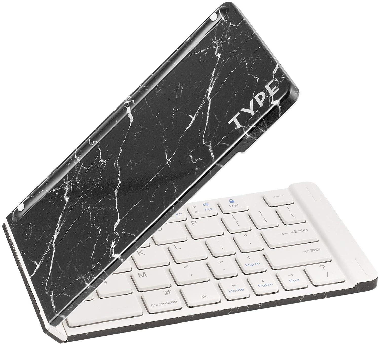 Keyboard Type Wireless Marble Black-1