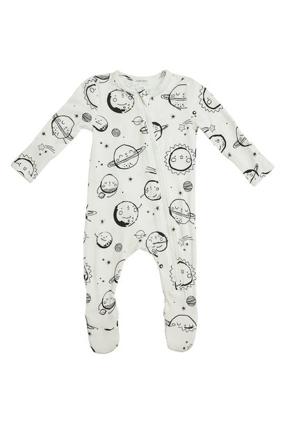 Huggable Planets Zipper Footie Pajama
